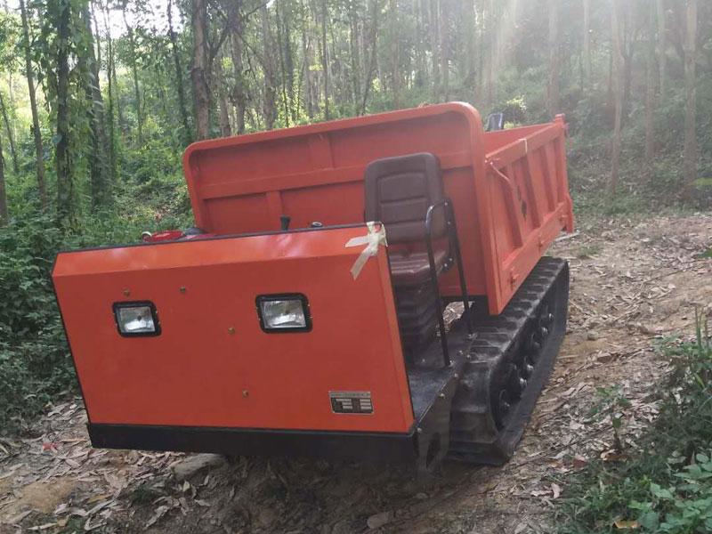 農用履帶運輸車下陡坡工程案例