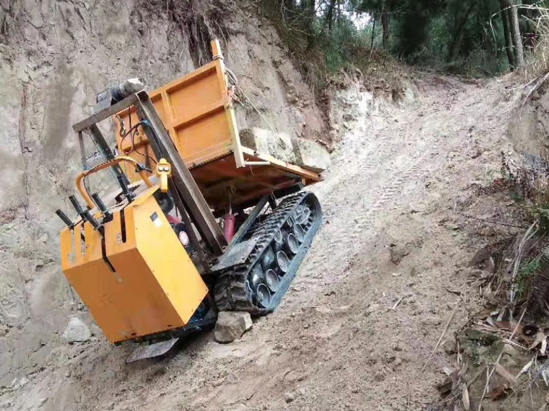 D223農用履帶運輸車下陡坡
